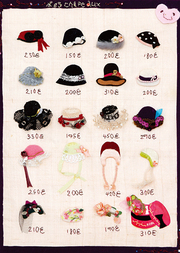 sample book of hats